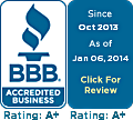 Better Business Bureau rating image
